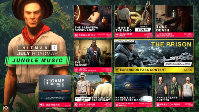 Hitman2 July 2019 Roadmap