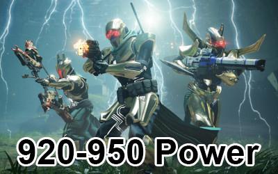 Destiny 2 Power Boost 920-950