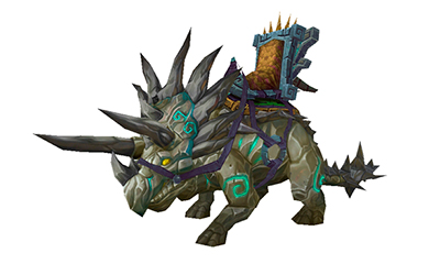 World of Warcraft Reins of the Amber Primordial Direhorn