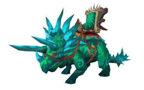 World of Warcraft Reins of the Jade Primordial Direhorn